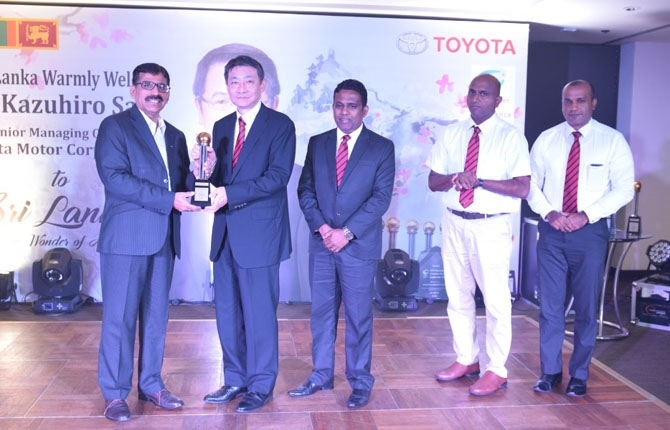 Toyota Lanka awarded outstanding customer service leadership
