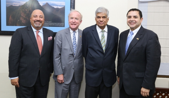 Congressman Rodney Frelinghuysen and Congressman Henry Cuellar met with Prime Minister Wickremesinghe at Temple Trees and emphasized continued U.S. commitment to political reforms and economic growth in Sri Lanka.