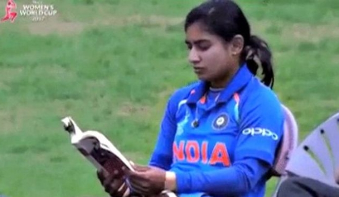 Captain Cool reads before batting