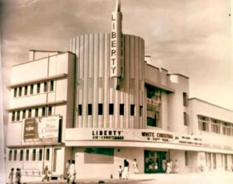Liberty cinema in the olden days. Liberty Pharmacy bell 795x629