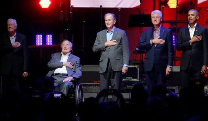 Fmr. Presidents unite for fundraiser (Pics)