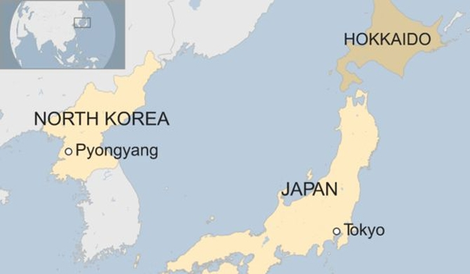 N. Korean missile fired over Japan