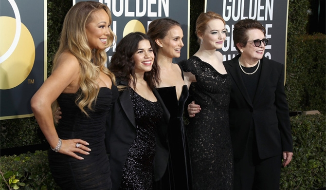 Golden globes turn black