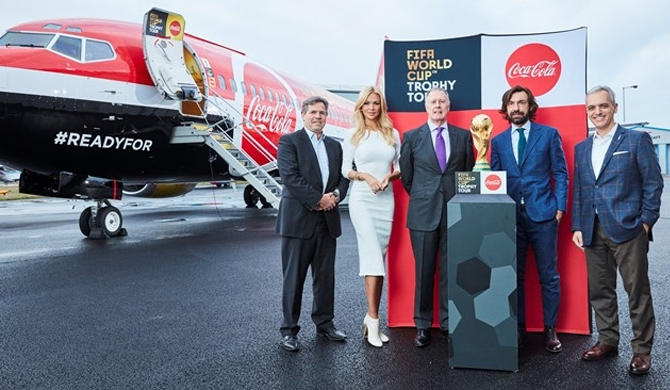 Global leg of the FIFA World Cup™ Trophy Tour by Coca-Cola kicked off with an official launch ceremony in London. Photo : © FIFA.com