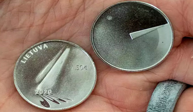 Lithuania mints 'coin of hope' to remember year of pandemic