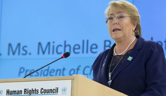 """Neither of these claims are true,"" - UN Human Rights Commissioner Michelle Bachelet"