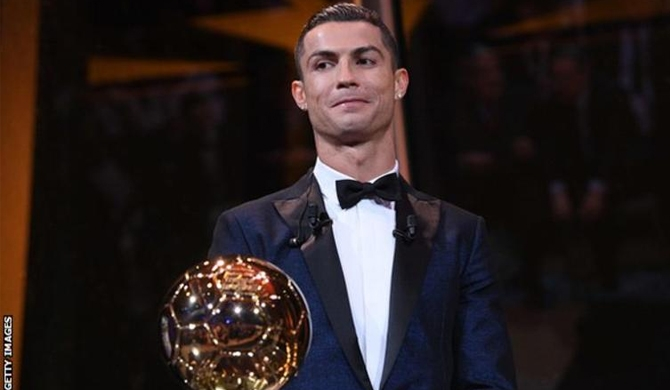 Ronaldo bags 5th Ballon d'Or