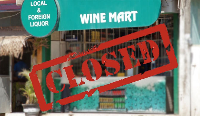 Liquor shops to be closed on April 13, 14