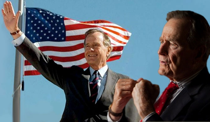 George Bush Sr. bids adieu