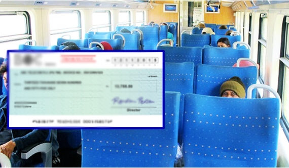 Cheques worth Rs. 55 million found in train