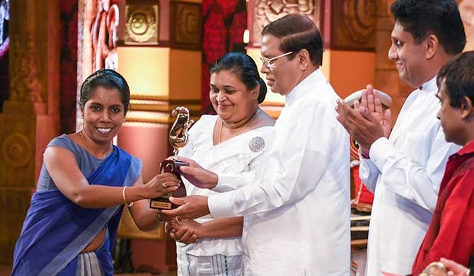 State literary award for Virajini's Makaranda
