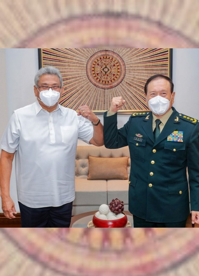 Chinese Defence Minister meets President Gotabaya (Pics)