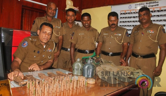 Weapons found from Medirigiriya house (pics)