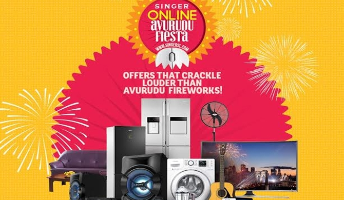 Great discounts on Singer online Avurudu Fiesta