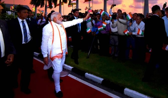 Why did Modi go to estates for Vesak? (video)