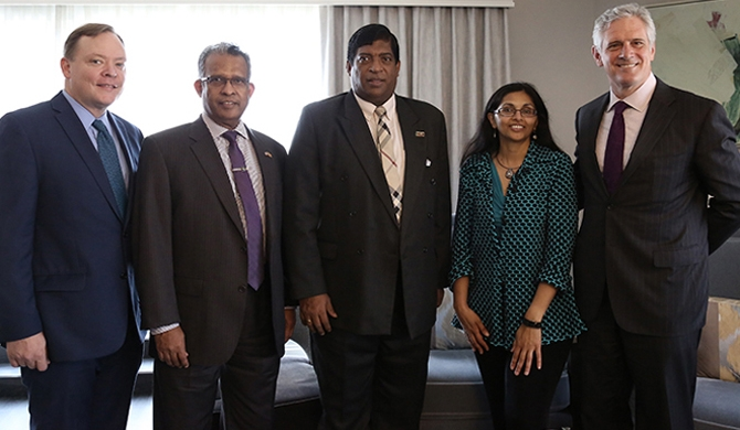 Hilton group senior mgmt. meets Finance Minister