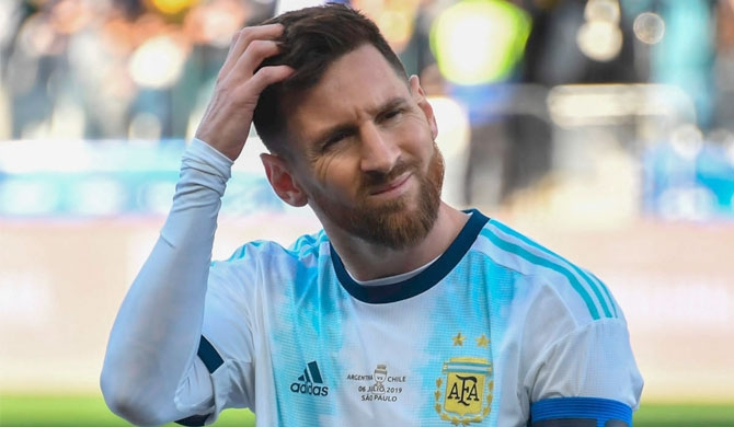 Messi suspended for 3 months