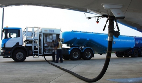 Stock of aviation fuel fails first test