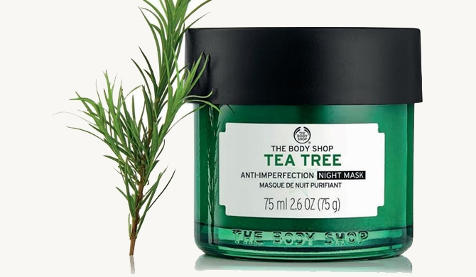 Tea Tree Anti-Imperfection night mask from The Body Shop