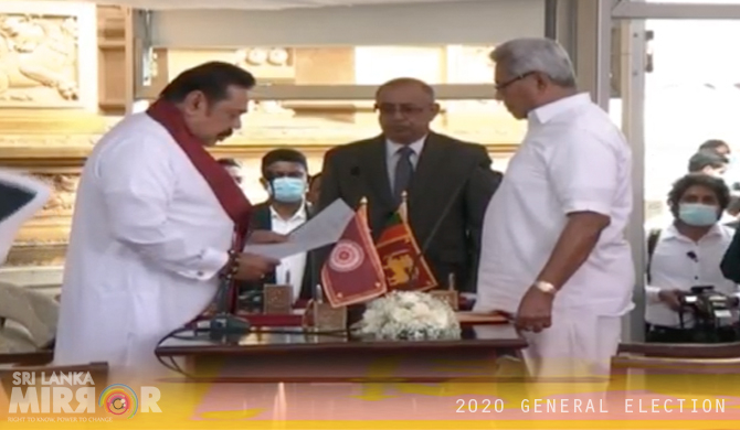 Mahinda Rajapaksa sworn in as new PM