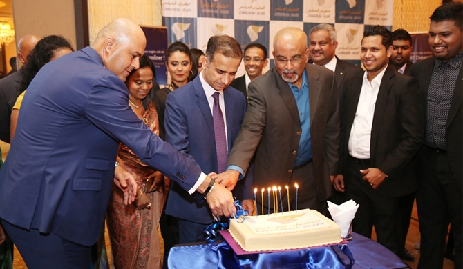 Oman Air marks 8th anniversary in SL