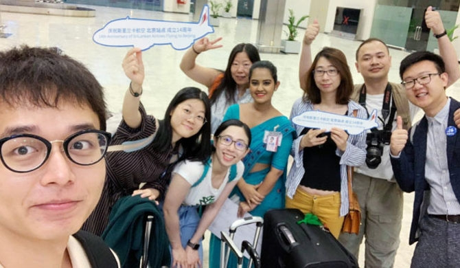 Chinese journalists on media tour with SriLankan Airlines