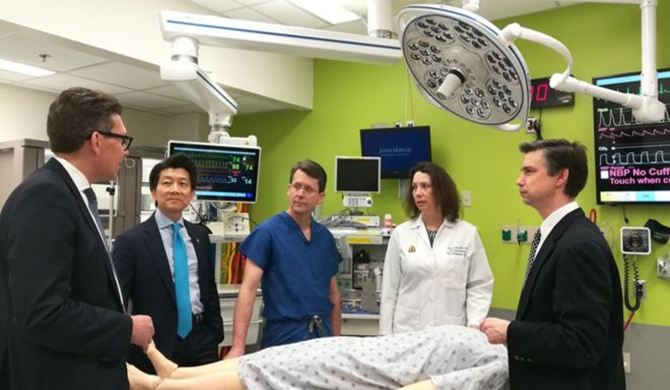 Dr Andrew Lee (second from left) and his team at Johns Hopkins University