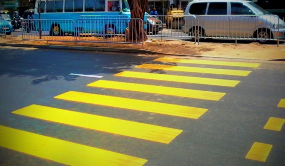 Pedestrian crossings to turn white