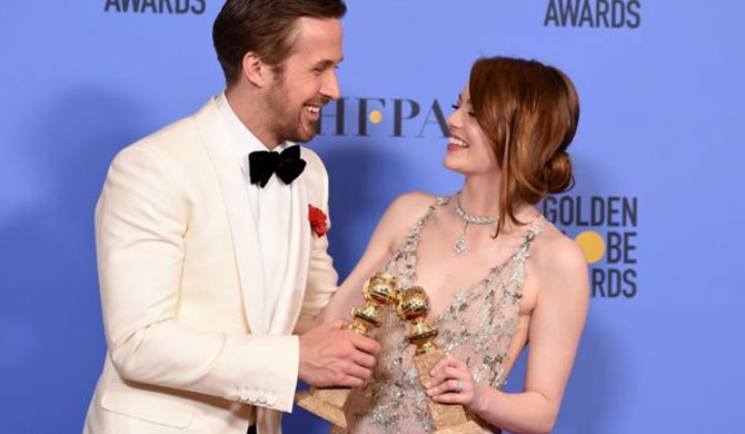La La Land sweeps Golden Globes awards