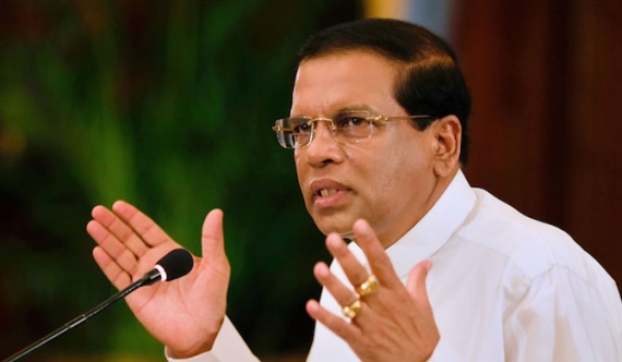President Sirisena said his policy  was to leave after 5 yrs.