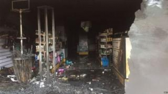 Muslim-owned shop destroyed at Elpitiya