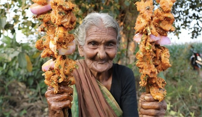 Indian granny becomes Youtube star with her cooking videos