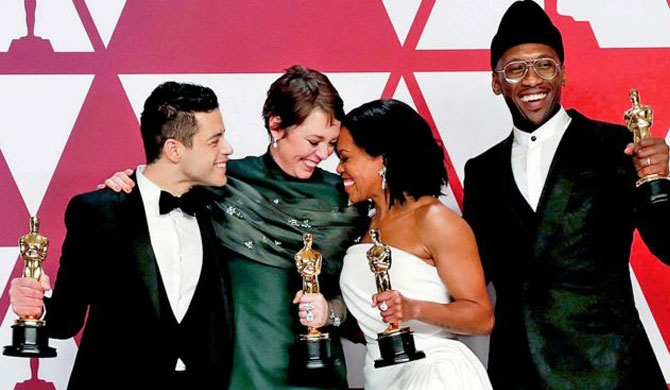 Olivia, Rumi & Green Book win top Oscars