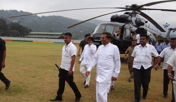 President abandons helicopter trip due to bad weather