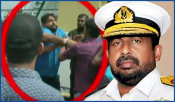 Navy chief who manhandled journalist has sought service extension