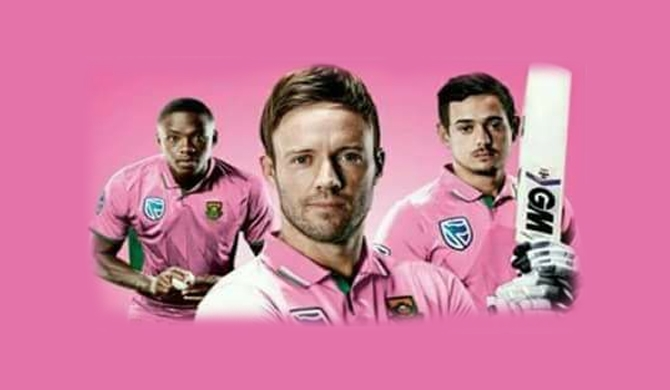 South Africans turn pink today