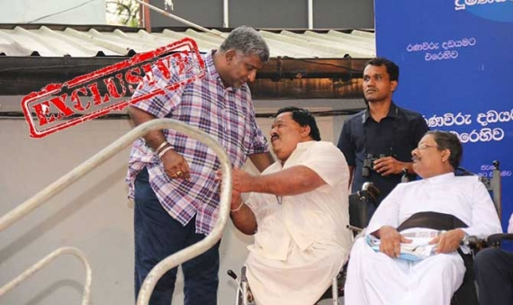 Prasanna stomps off stage during JO rally