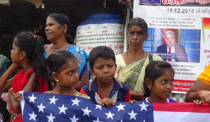Protest in Vavuniya against Sumanthiran and Sampanthan (Pics)