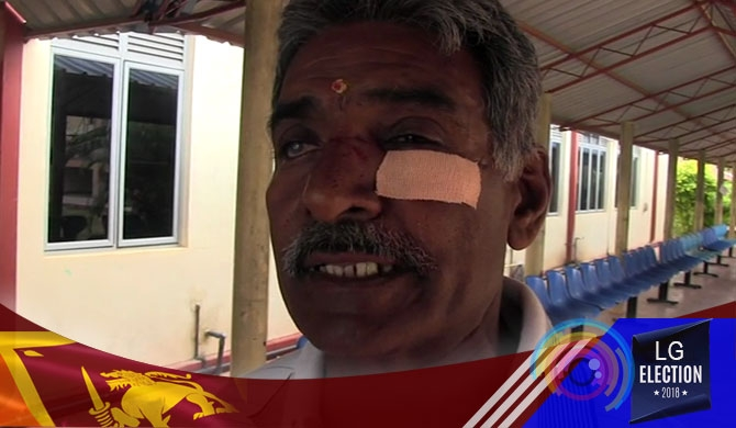 Candidate injures voter's face (Pics)