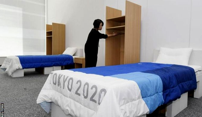 Recycled cardboard used for beds at 2020 Olympics