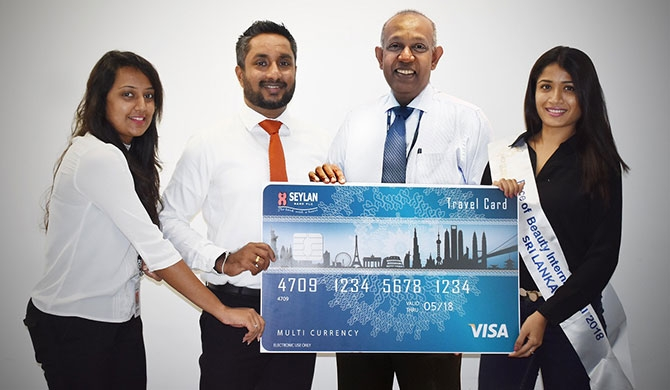 (from left) Nadunika Pallegangoda – Assistant Manager, Brand Marketing Cards at Seylan Bank PLC, Gamika De Silva – Head of Marketing and Sales at Seylan Bank PLC, Jayanath Dias – Head of Cards at Seylan Bank PLC , Minelle Perera