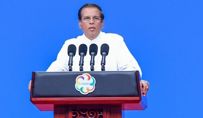 SL President emphasises on wiping out global terror