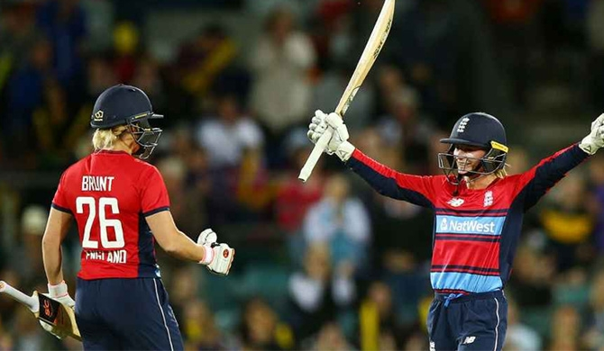 Danielle Wyatt struck England's first century in women's T20Is Getty Images