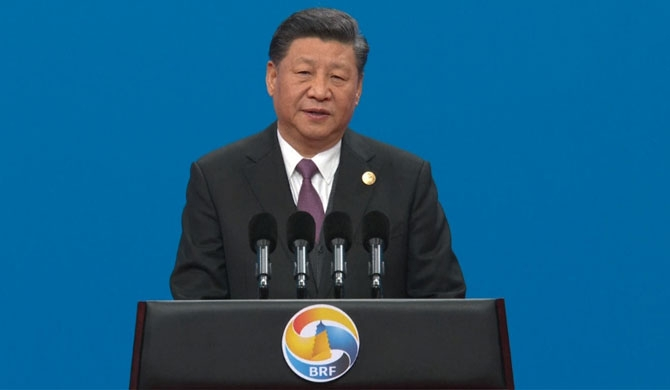 Chinese President Xi Jinping delivered a keynote speech at the opening ceremony of the Second Belt and Road Forum for International Cooperation (BRF) in Beijing on Friday. (Photo credits : cgtn.com)