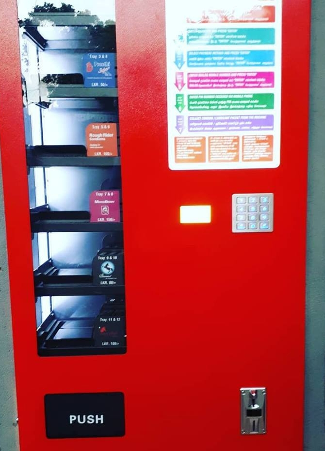 Vending machine for condoms in Colombo (Pics)