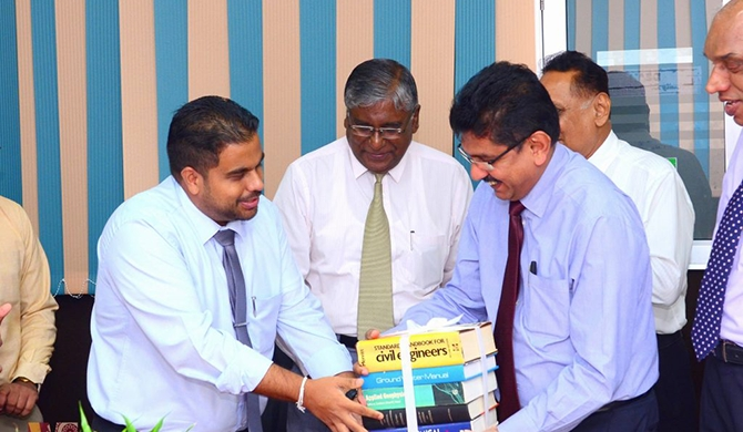 ASLGSC donates books to J'pura  Engineering Faculty library