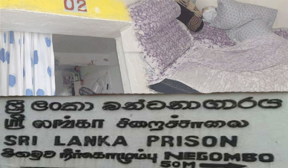Tens of thousands charged from prisoners for facilities at Negombo Prison