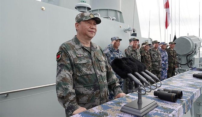 President Xi reviews Navy in South China Sea