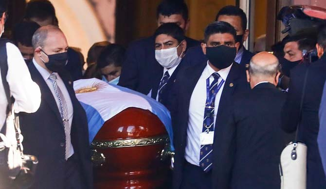 Maradona laid to rest as Argentina grieves (Pics)
