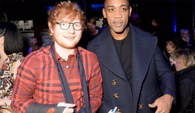 Ed Sheeran gets decorated cast